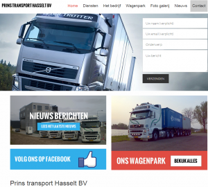 Nieuwe website Prins Transport online